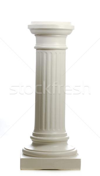 Pijler geïsoleerd witte reflectie kunst architectuur Stockfoto © willeecole