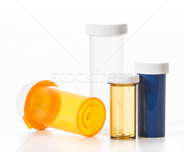 Vacío píldora botellas blanco salud medicina Foto stock © willeecole