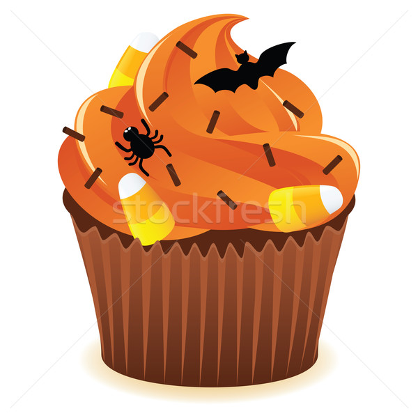 Halloween cupcakePrint Stock photo © wingedcats