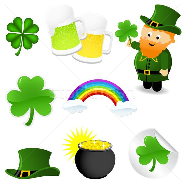 St Patrick's Day groene klaver goud vakantie Stockfoto © wingedcats