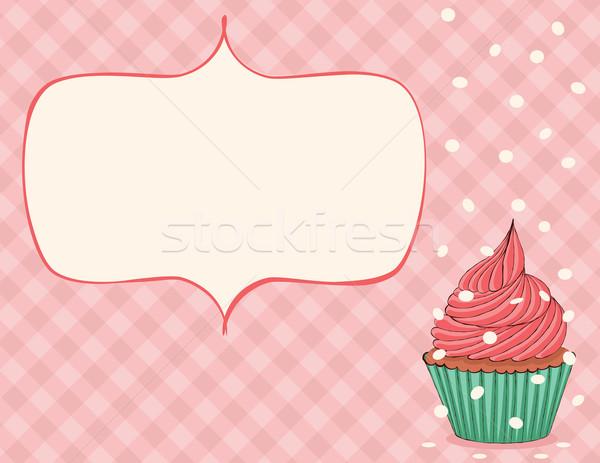 празднования карт розовый конфетти прибыль на акцию Сток-фото © wingedcats