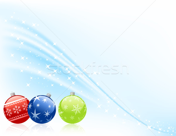 Stockfoto: Drie · christmas · sneeuw · achtergrond · kunst · groene