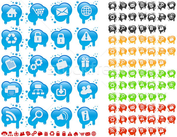 Proste farby podpisania Język Zdjęcia stock © wingedcats