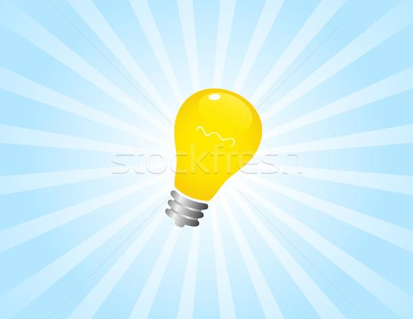 Идея простой свет синий Сток-фото © wingedcats