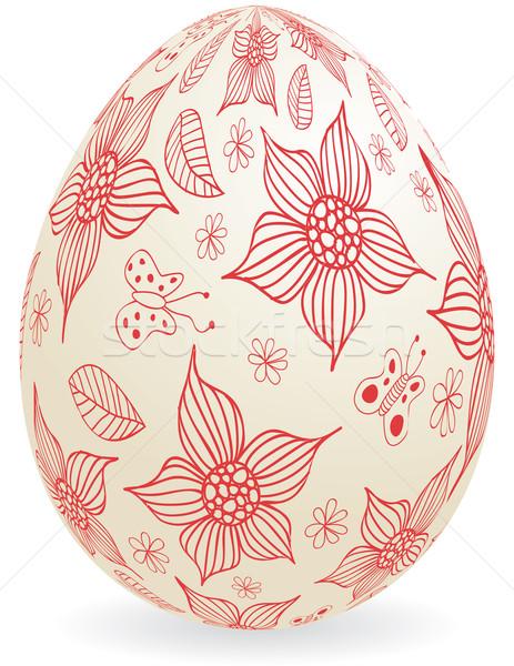 цветочный пасхальное яйцо глобальный цветами лист религии Сток-фото © wingedcats