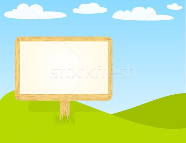 Fából készült óriásplakát Stock fotó © wingedcats