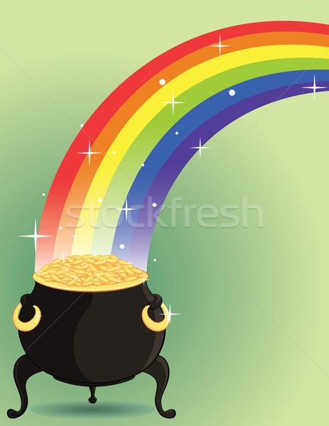 Pot goud regenboog geld voorjaar partij Stockfoto © wingedcats