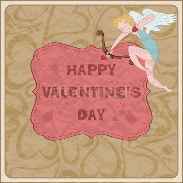 день карт любви стены сердце фон Сток-фото © wingedcats