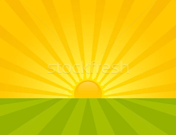 Zonsopgang platteland zomer hemel voorjaar Stockfoto © wingedcats