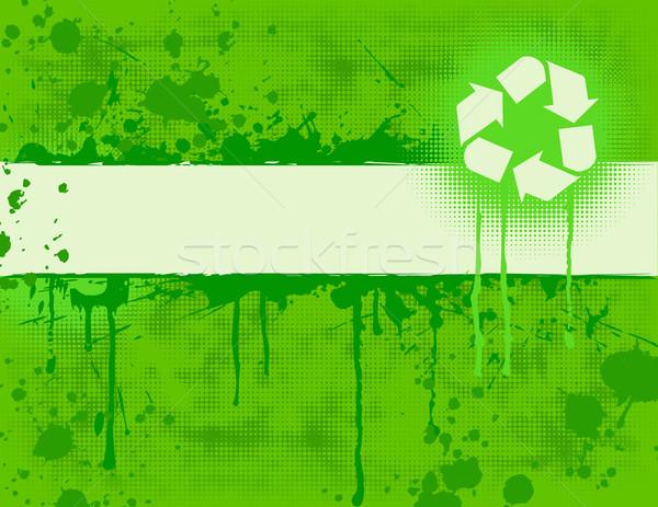 Geri Dönüşüm Afiş Yeşil Arka Plan çerçeve Vektör
