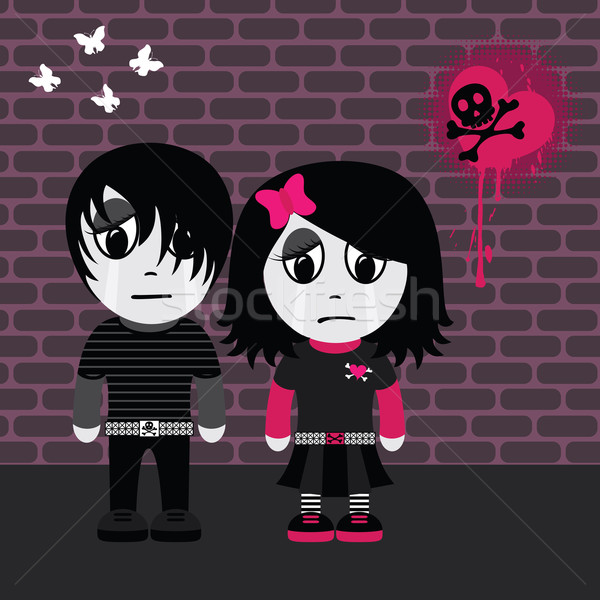 Emo couple Stock photo © wingedcats