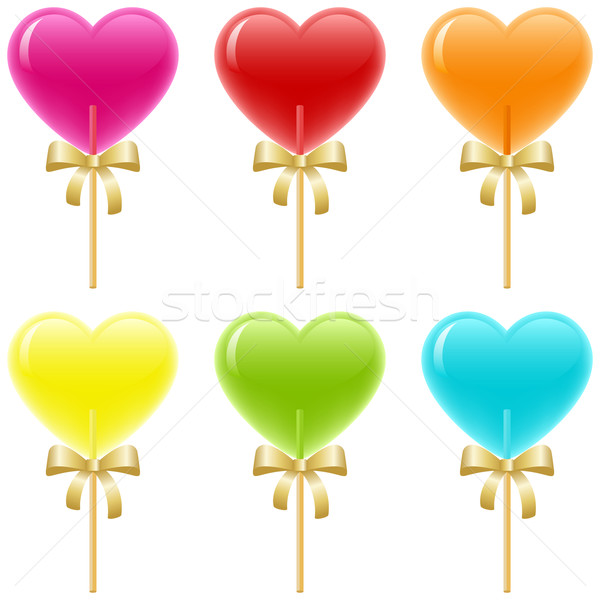 Kalp sevmek tatlı şeker güzel Stok fotoğraf © wingedcats