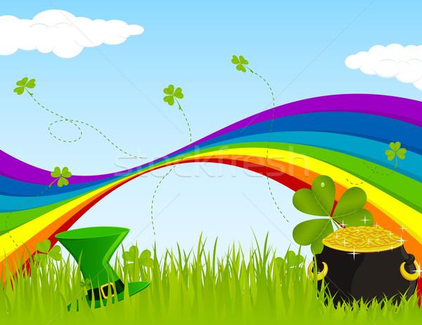 Seamless St. Patrick's Landscape Stock photo © wingedcats
