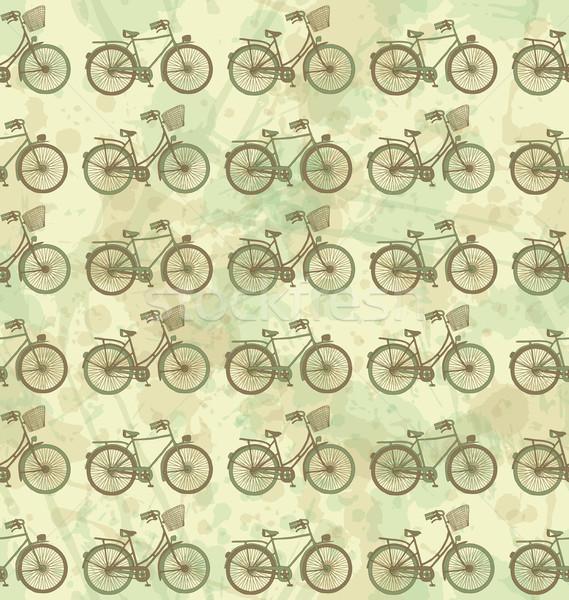 велосипедов шаблон велосипед фон ткань Сток-фото © wingedcats