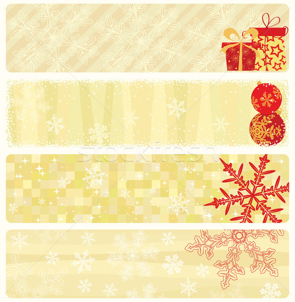 Stock photo: Christmas banners collection.