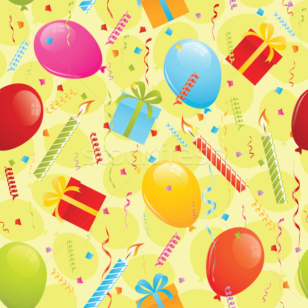 Birthday seamless pattern Stock photo © wingedcats