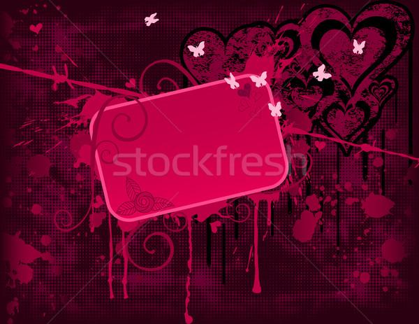 Roze banner eps globale kleuren Stockfoto © wingedcats