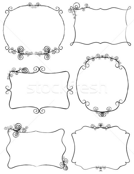 Retro frames ornamenten frame teken Stockfoto © wingedcats