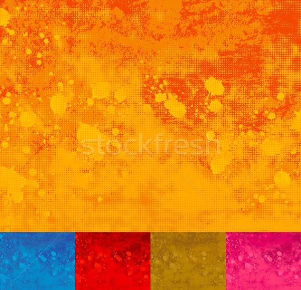Grunge Halftone Splattered Background. Stock photo © wingedcats