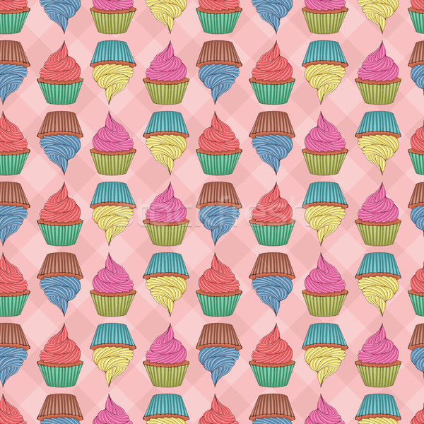 Végtelenített minitorták végtelen minta eps globális színek Stock fotó © wingedcats
