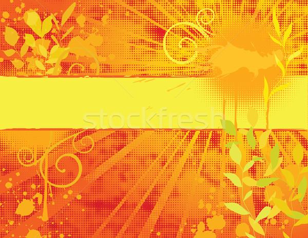 Yaz afiş eps global renkler doğa Stok fotoğraf © wingedcats