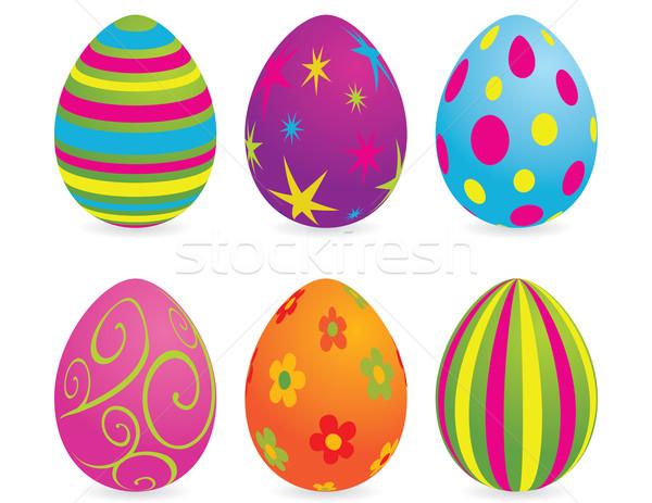 пасхальных яиц глобальный цветами шаблон религии объект Сток-фото © wingedcats