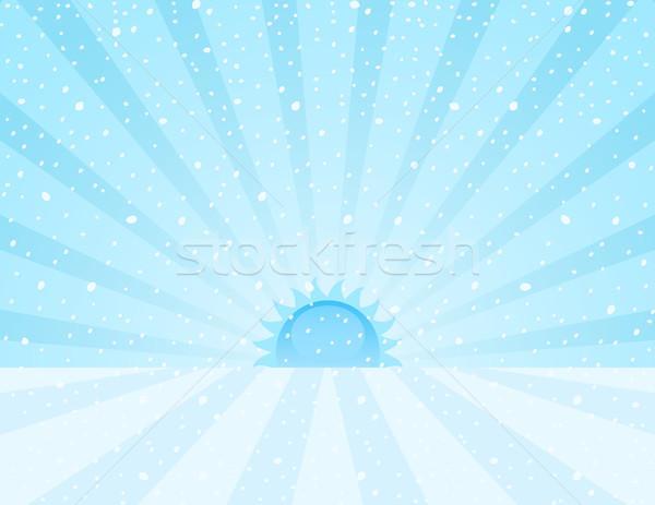 Manzara kış gündoğumu güneş doğa arka plan Stok fotoğraf © wingedcats