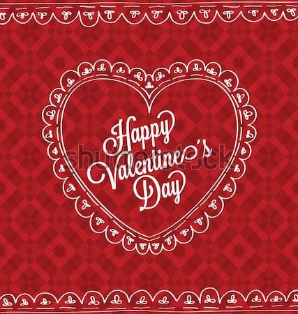 Gelukkig valentijnsdag kaart hart papier achtergrond Stockfoto © wingedcats