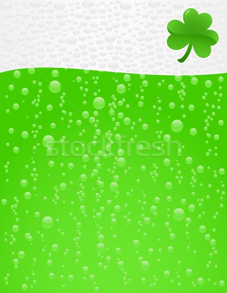 Groene bier schuim achtergrond bar drinken Stockfoto © wingedcats