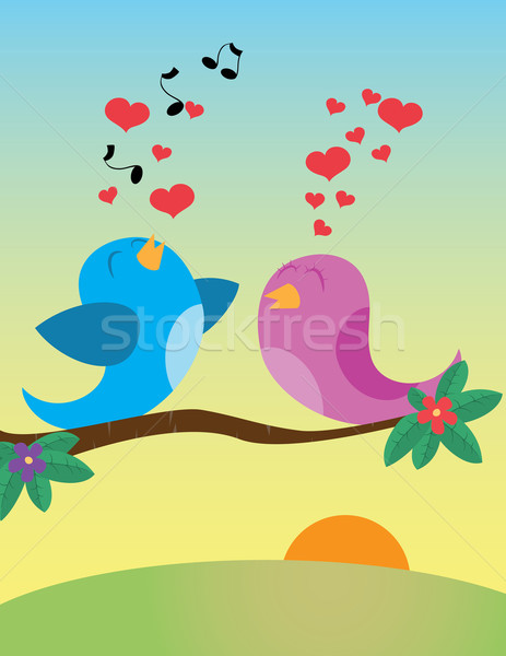 Birds_in_love Stock photo © wingedcats
