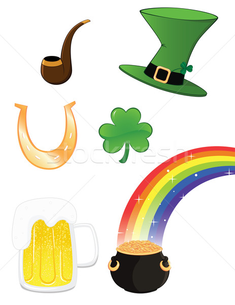 святой пива зеленый Hat алкоголя Сток-фото © wingedcats