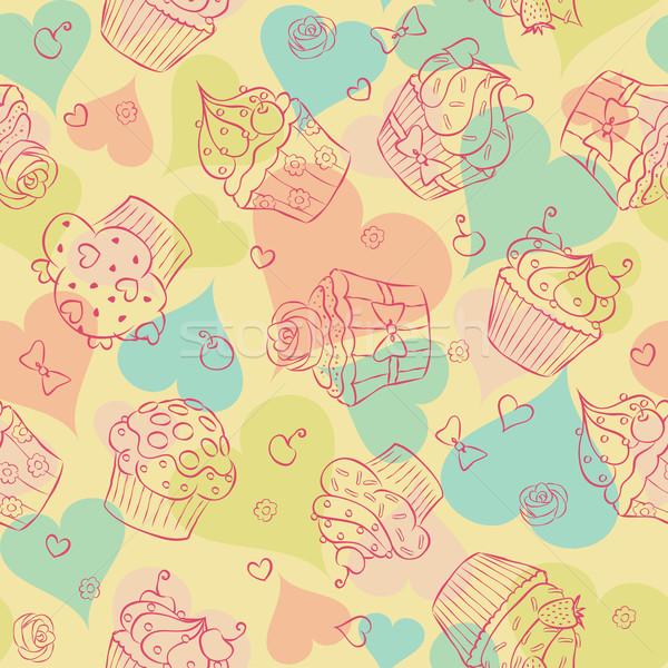 Liefde harten meisje textuur Stockfoto © wingedcats