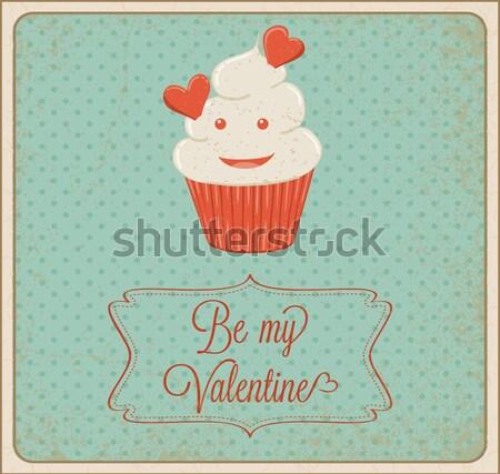 Cherry Cupcake Stock photo © wingedcats