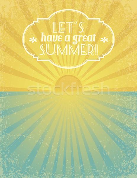 Nagyszerű nyár grunge mintázott szalag eps10 Stock fotó © wingedcats