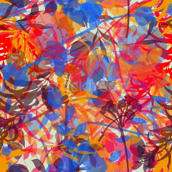 Kleurrijk aquarel bloemen abstract Stockfoto © wingedcats
