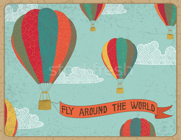 Fly arround the world Stock photo © wingedcats