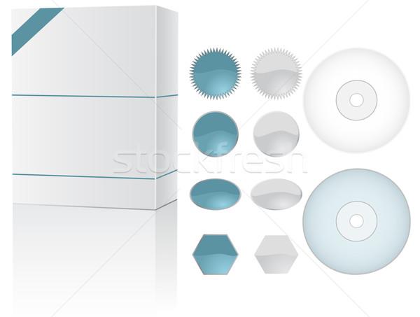 окна набор дисков интернет контейнера Сток-фото © wingedcats
