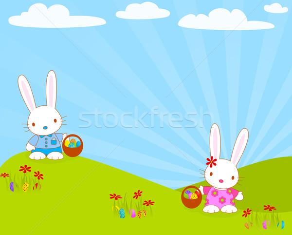 Пасху яйца глобальный цветами религии Сток-фото © wingedcats