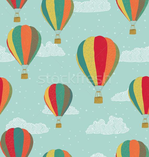 Sıcak hava balonlar kâğıt doku Stok fotoğraf © wingedcats