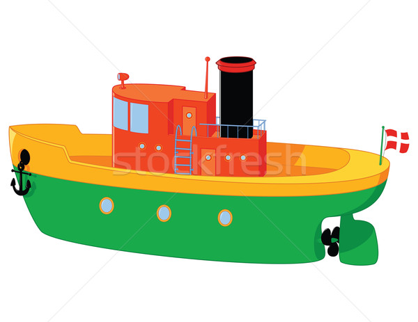 лодка смешные игрушку воды древесины ребенка Сток-фото © wingedcats