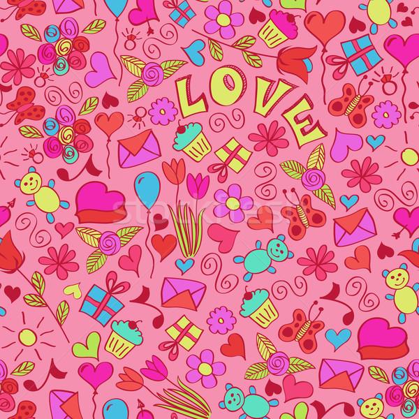 San valentino eps globale colore illustrazione Foto d'archivio © wingedcats