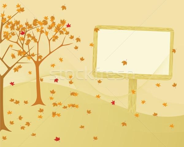 Fúj szél ősz fák levelek fa Stock fotó © wingedcats