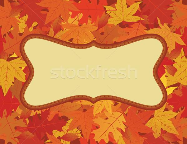 осень кадр листьев оранжевый красный Сток-фото © wingedcats