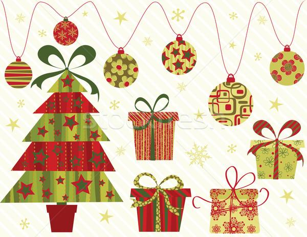 Noël ornements propre design fond Photo stock © wingedcats