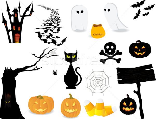 Halloween icon set. Stock photo © wingedcats