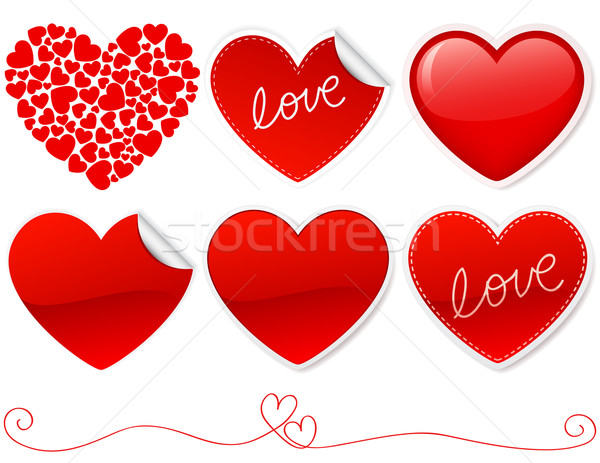Liefde valentijnsdag hart Rood Stockfoto © wingedcats