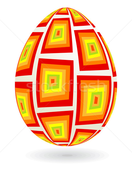Retro easter egg Stockfoto © wingedcats
