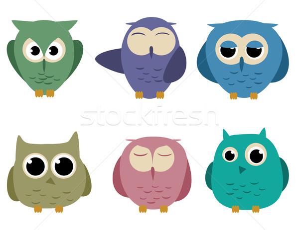 Owls Stock photo © wingedcats