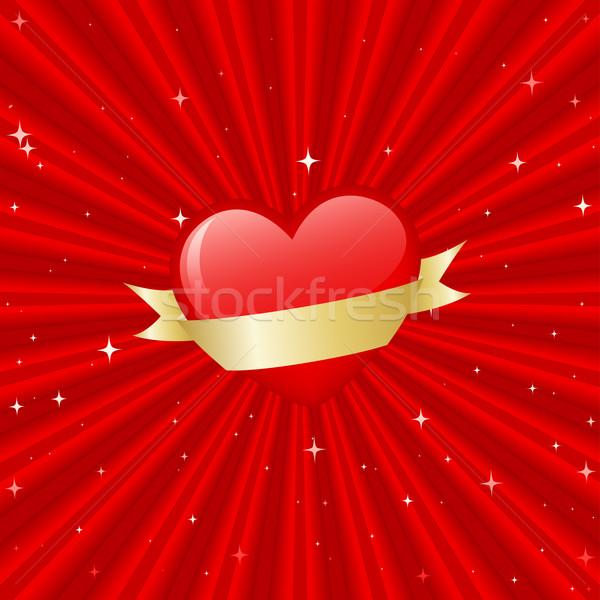 Kalp afiş dosya eğim Stok fotoğraf © wingedcats