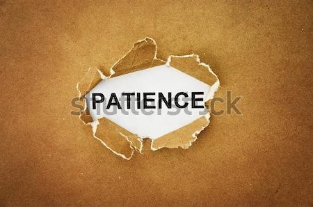 Verdade palavra buraco papel pardo papel textura Foto stock © winnond